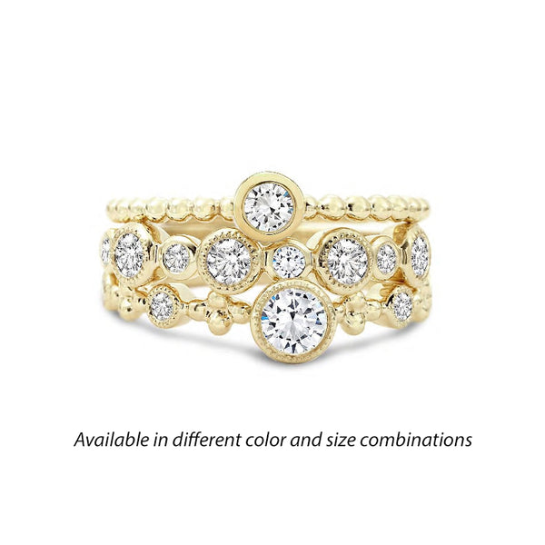Forevermark Tribute™ Diamond Yellow Stack Band Set