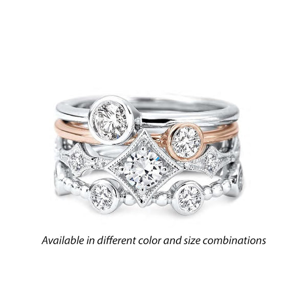 Forevermark Tribute™ Diamond 4 Stack Band Set
