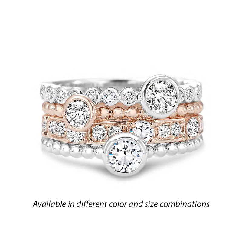 7dc81660d0e68 Forevermark Tribute™ Diamond Bubble Stack Band Set – Fey & CO.
