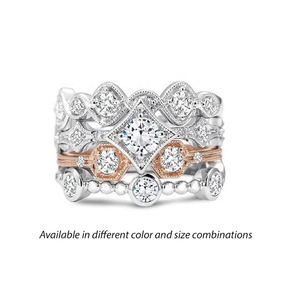 Forevermark Tribute™ Diamond On Point Stack Band Set