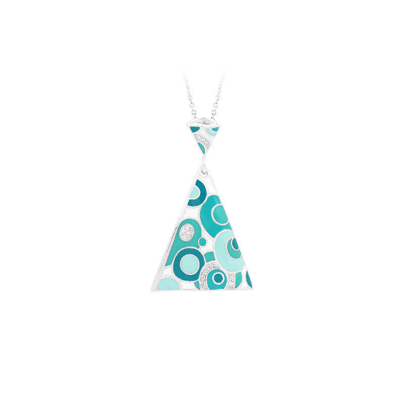 Groovy White and Aqua Pendant