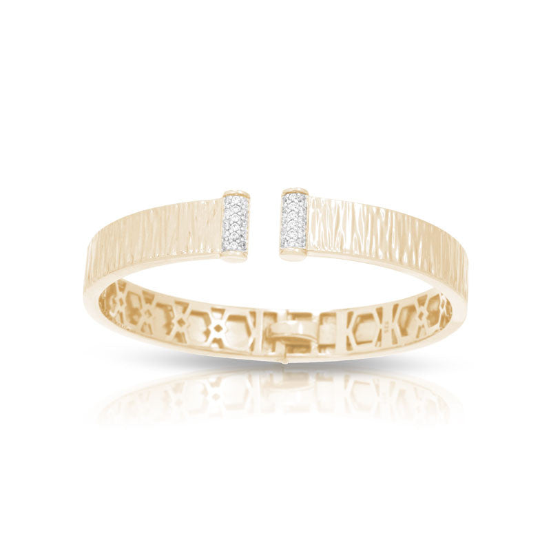 Belle Etoile Heiress Collection 18 karat yellow gold vermeil on sterling silver with pave-set stones bracelet.