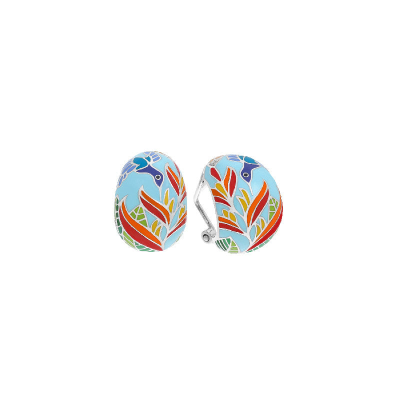 Hummingbird Sky Blue Earrings