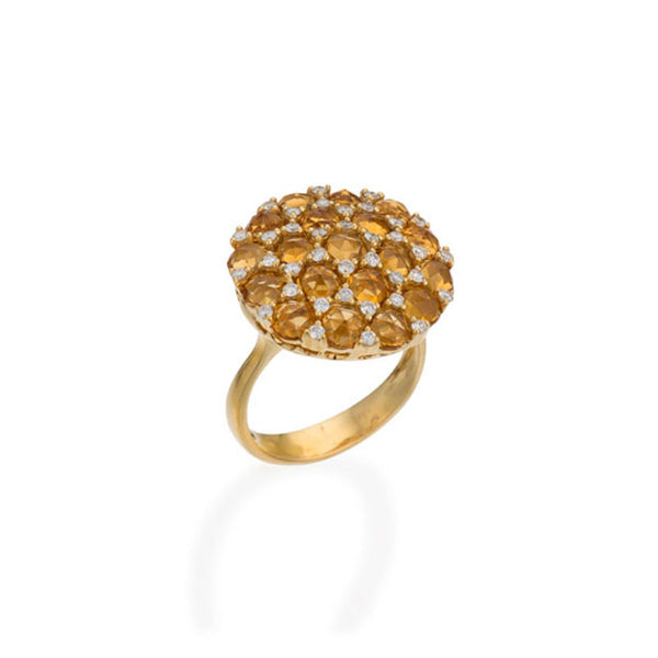 Tremezzo Collection Citrine & Scattered Diamond Ring