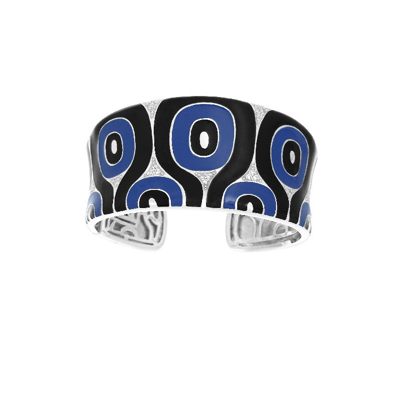 Moda Blue and Black Bangle