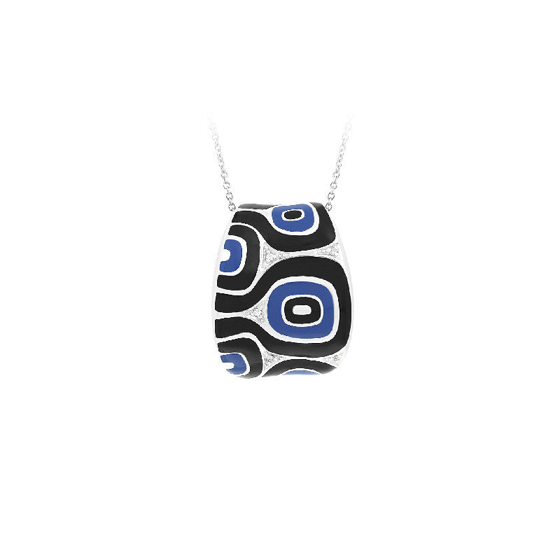 Moda Blue and Black Pendant