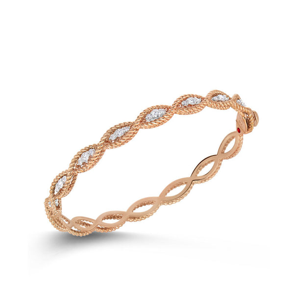 Barocco 18 karat rose and white gold diamond bracelet