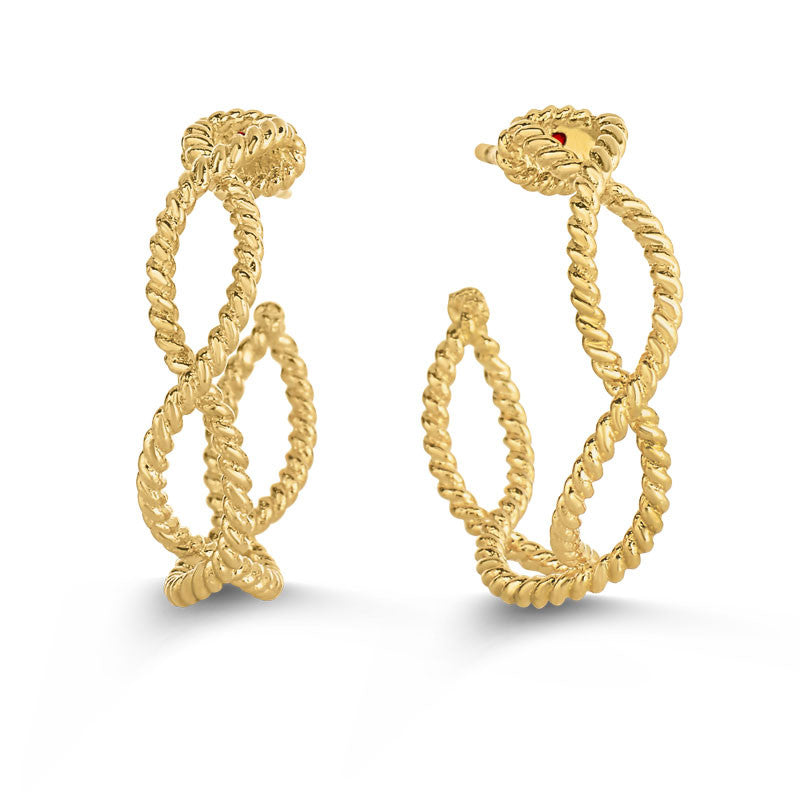 Barocco gold earring