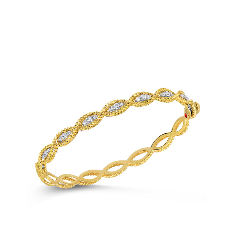 Barocco 18 karat yellow and white gold diamond bracelet