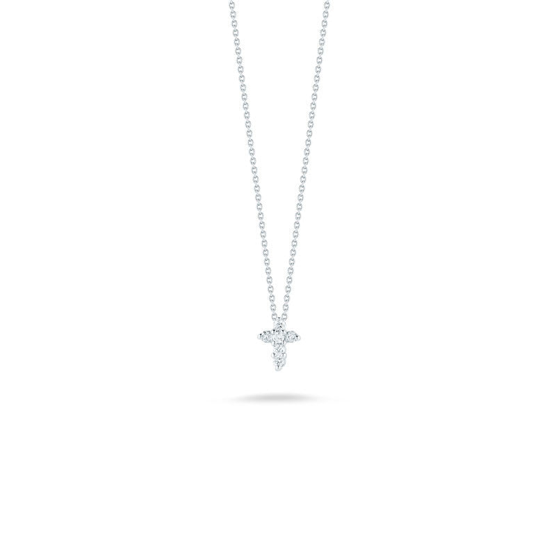Tiny Treasures 18 karat Gold diamond baby cross pendant