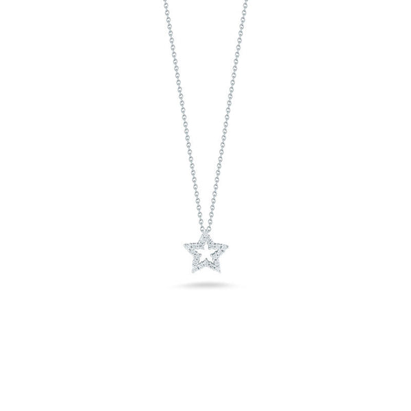 Tiny Treasures 18 karat white gold diamond star pendant
