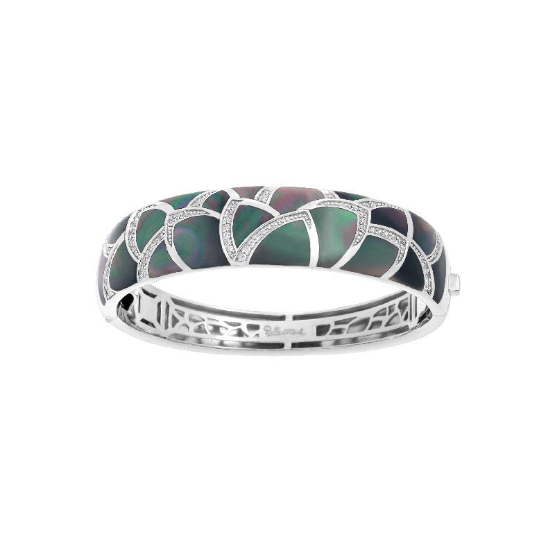 Sirena Black Mother-of-Pearl Bangle