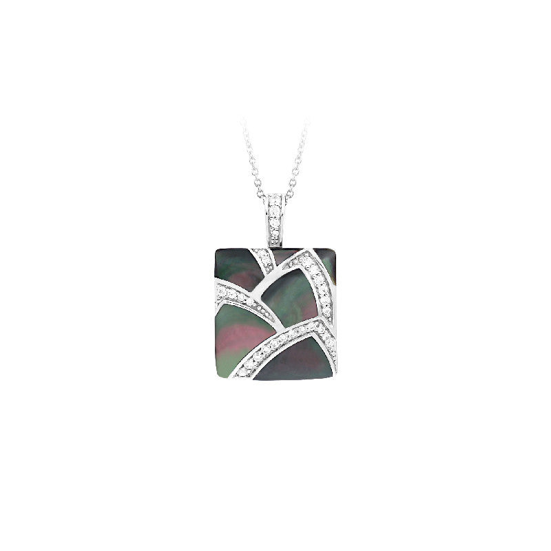Sirena Black Mother-of-Pearl Pendant