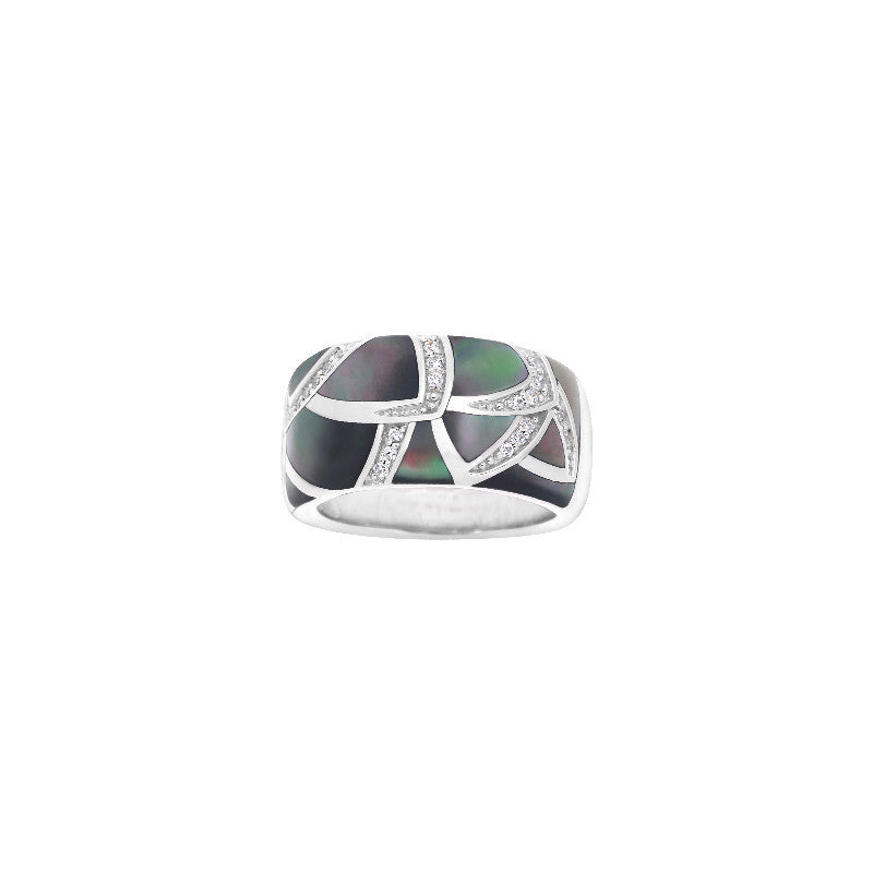Sirena Black Mother-of-Pearl Ring