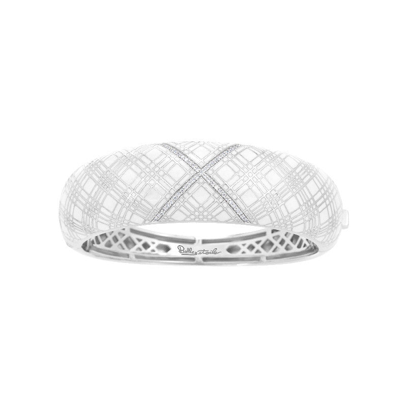 Tartan White Bangle