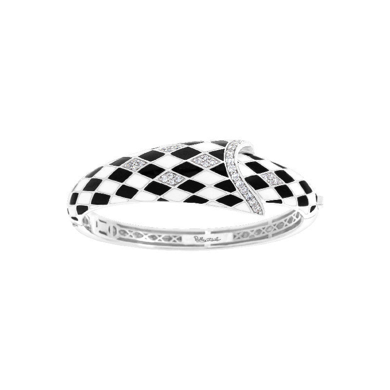 Tivoli Black and White Bangle