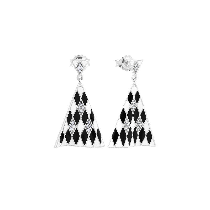 Tivoli Black and White Earrings