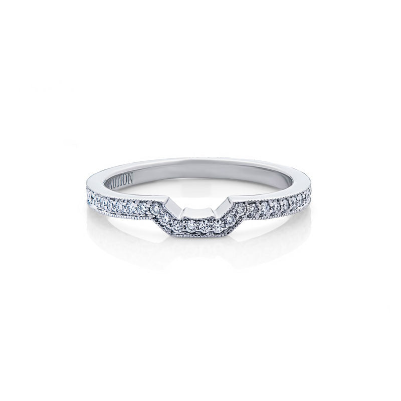 Violet Forevermark Devotion Cut Diamond Wedding Band