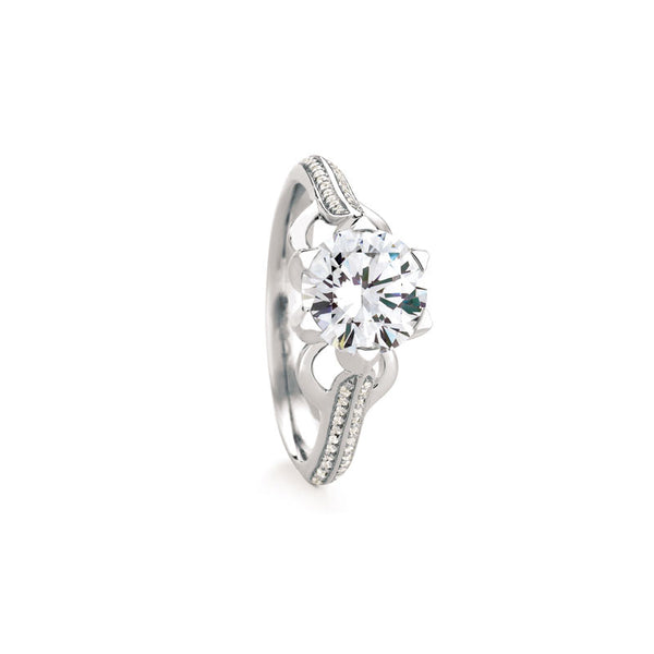 Maevona Castlebay Round Brilliant Diamond Engagement Ring
