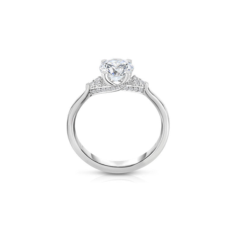 Maevona Dalkeith Round Brilliant Cut Diamond Engagement Ring