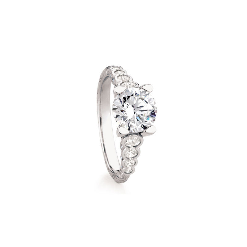 Maevona Dunoon Round Brilliant Diamond Engagement Ring
