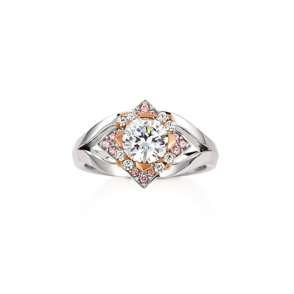 Maevona Edinburgh Round Brilliant Diamond Engagement Ring