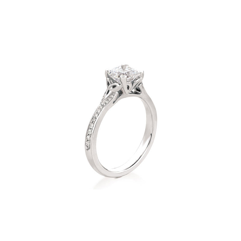 Maevona Ellary Square Cut Diamond Engagement Ring