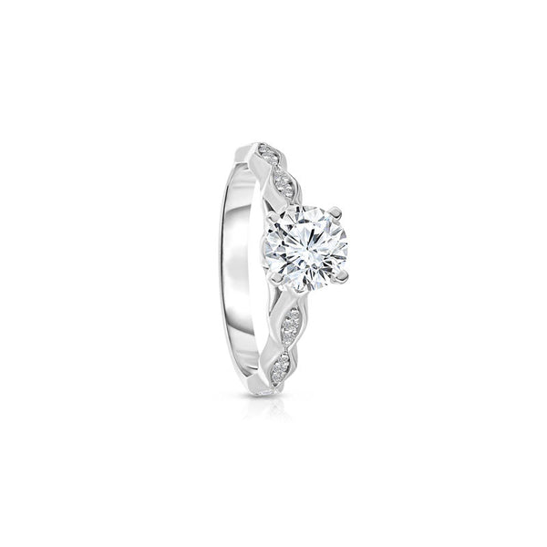Maevona Fife Round Brilliant Diamond Engagement Ring