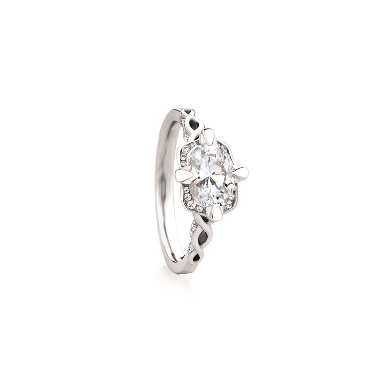 Maevona Hamilton Oval Brilliant Diamond Engagement Ring
