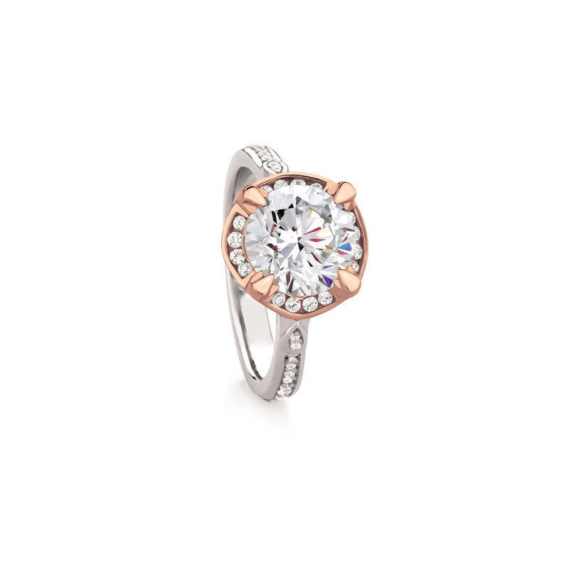 Maevona Hamilton Round Brilliant Diamond Engagement Ring