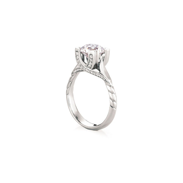Maevona Harris Round Brilliant Diamond Engagement Ring