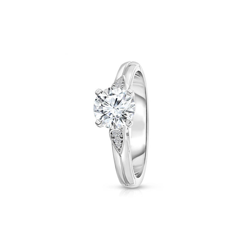 Maevona Inverclyde Round Brilliant Diamond Engagement Ring