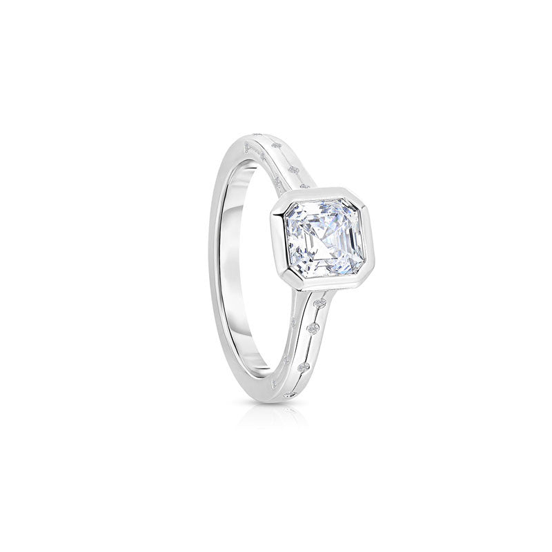 Maevona Kinross Square Cut Diamond Engagement Ring
