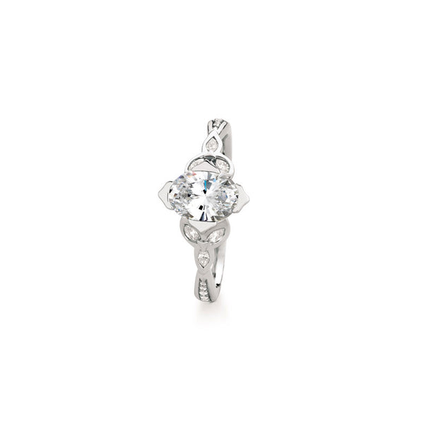 Maevona Ballantrae Marquise Brilliant Diamond Engagement Ring