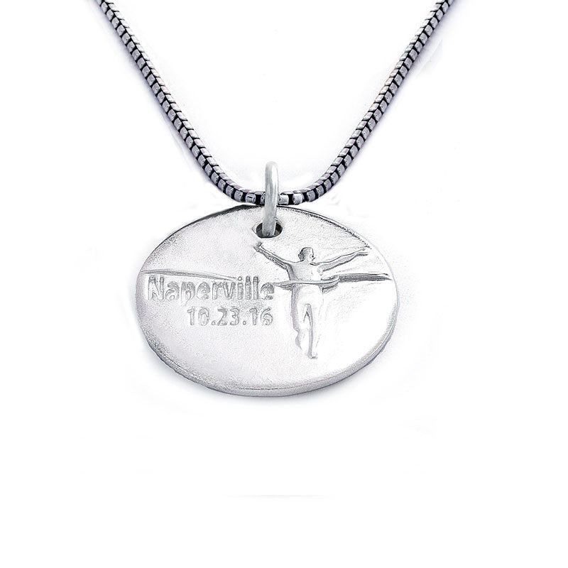 Naperville Marathon Commemorative Charm Necklace