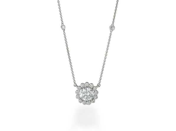 Fey & Co. Varenna Jewel invisible set diamond pendant