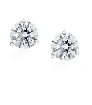Diamond Solitaire Earrings