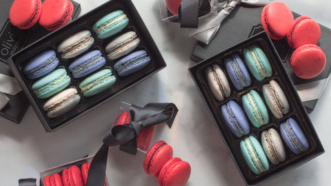 School Colors French Macarons