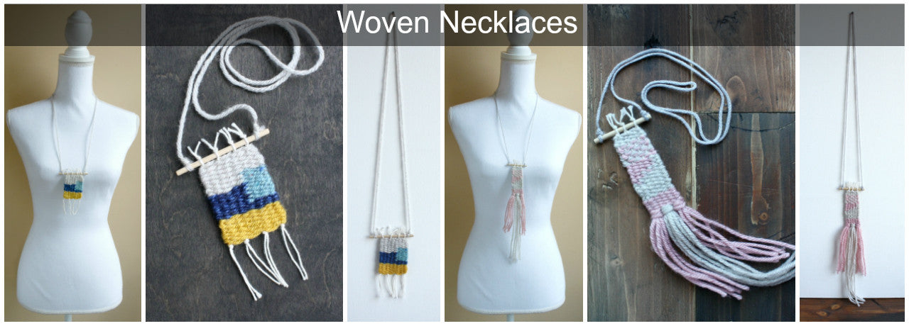Handmade woven necklaces