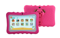 "7"" Android Kids Tablet + Free Silicone Cover - Pink"