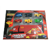 Cars 3 Friction Power Cars & Container Truck Set