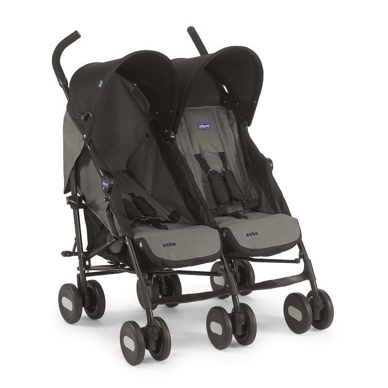 Chicco - Echo Twin Comp Stroller Coal Prima Baby