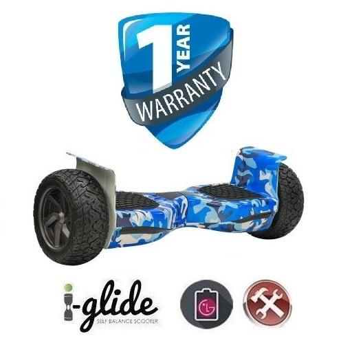 "Hoverboard i-Glide™ V4 8.5"" Bluetooth Off Blue Army iGlide"