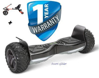 "Hoverboard Smart Glider 8.5"" Bluetooth Off-Road & Drifter Cart Combo"