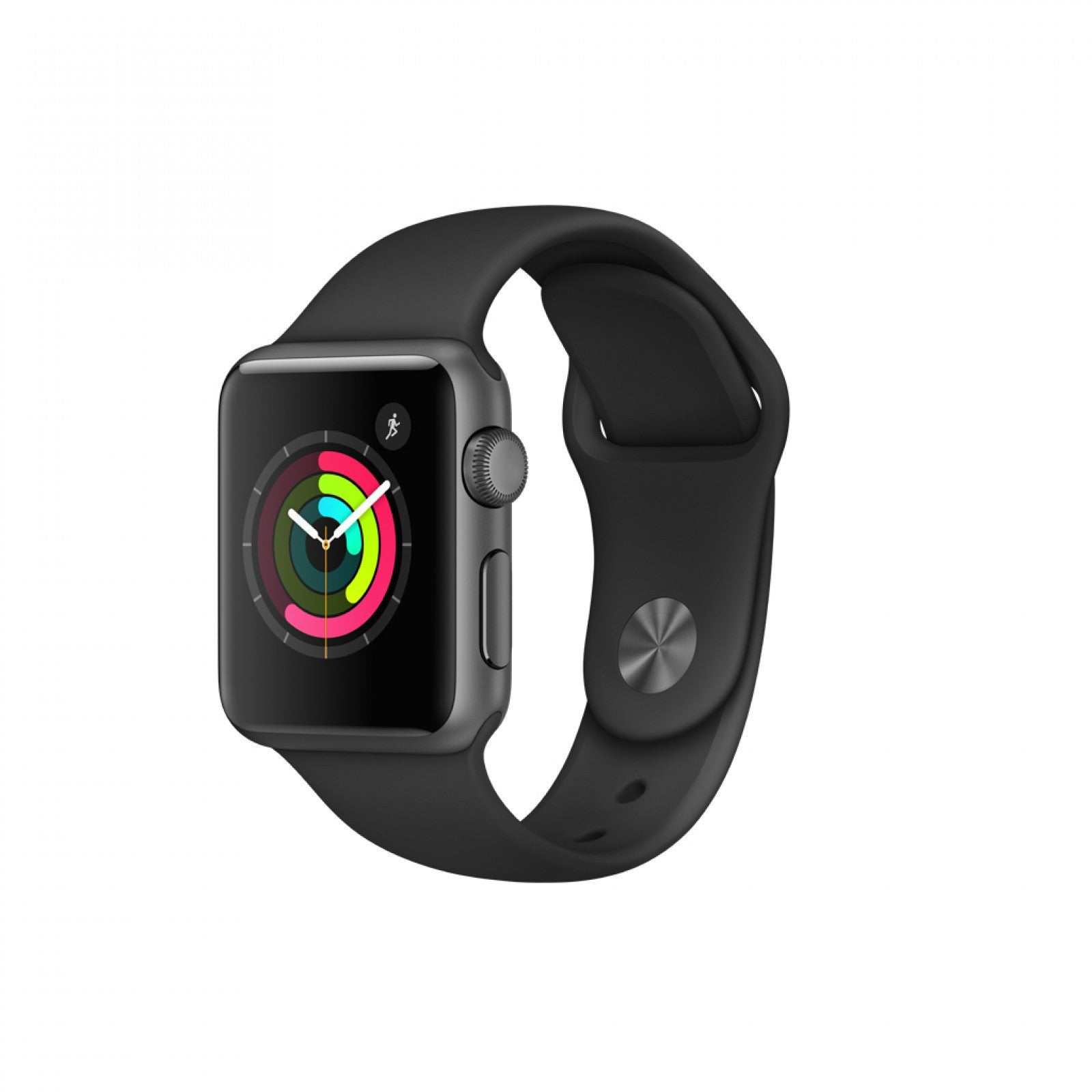 iStore smart watch 38mm Space Grey Aluminium Case with Black Sport Band - Series 1