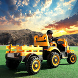 Kids Electric Ride On Tractor & Trailer L Exclusivebrandsonline