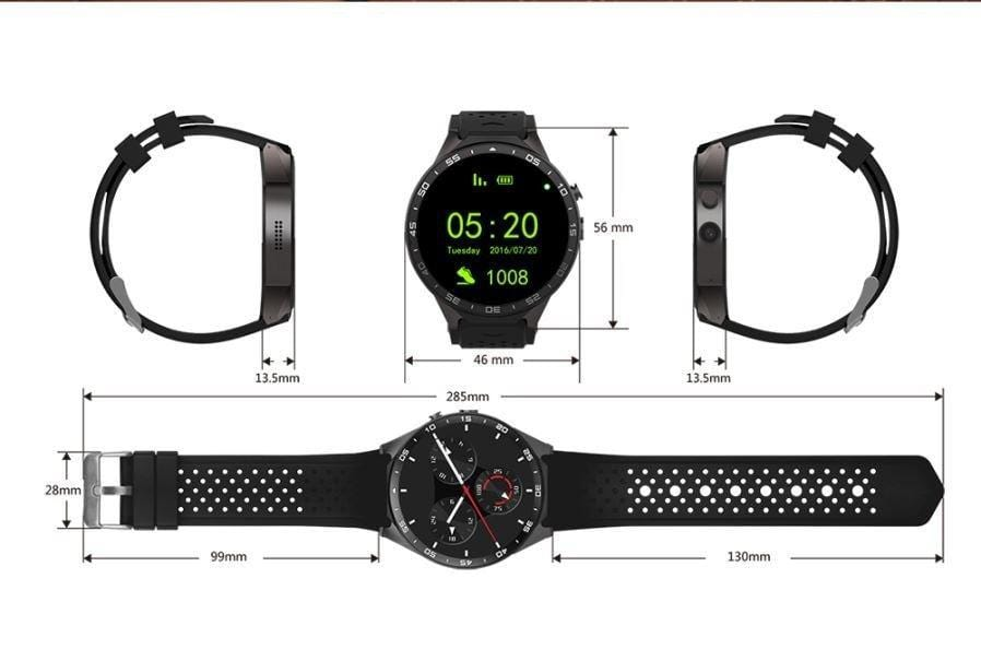 KW88 Kingwear Bluetooth Smartwatch/Phone for IOS & Android