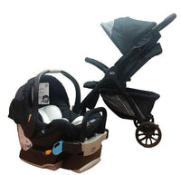 Kwik-One Stroller & Key Fit Car Seat – Jet Black