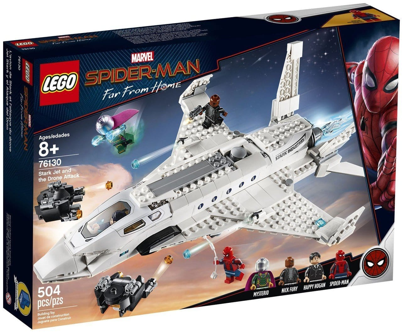 LEGO® Marvel Spider-Man Stark Jet and the Drone Attack: 76130 lego