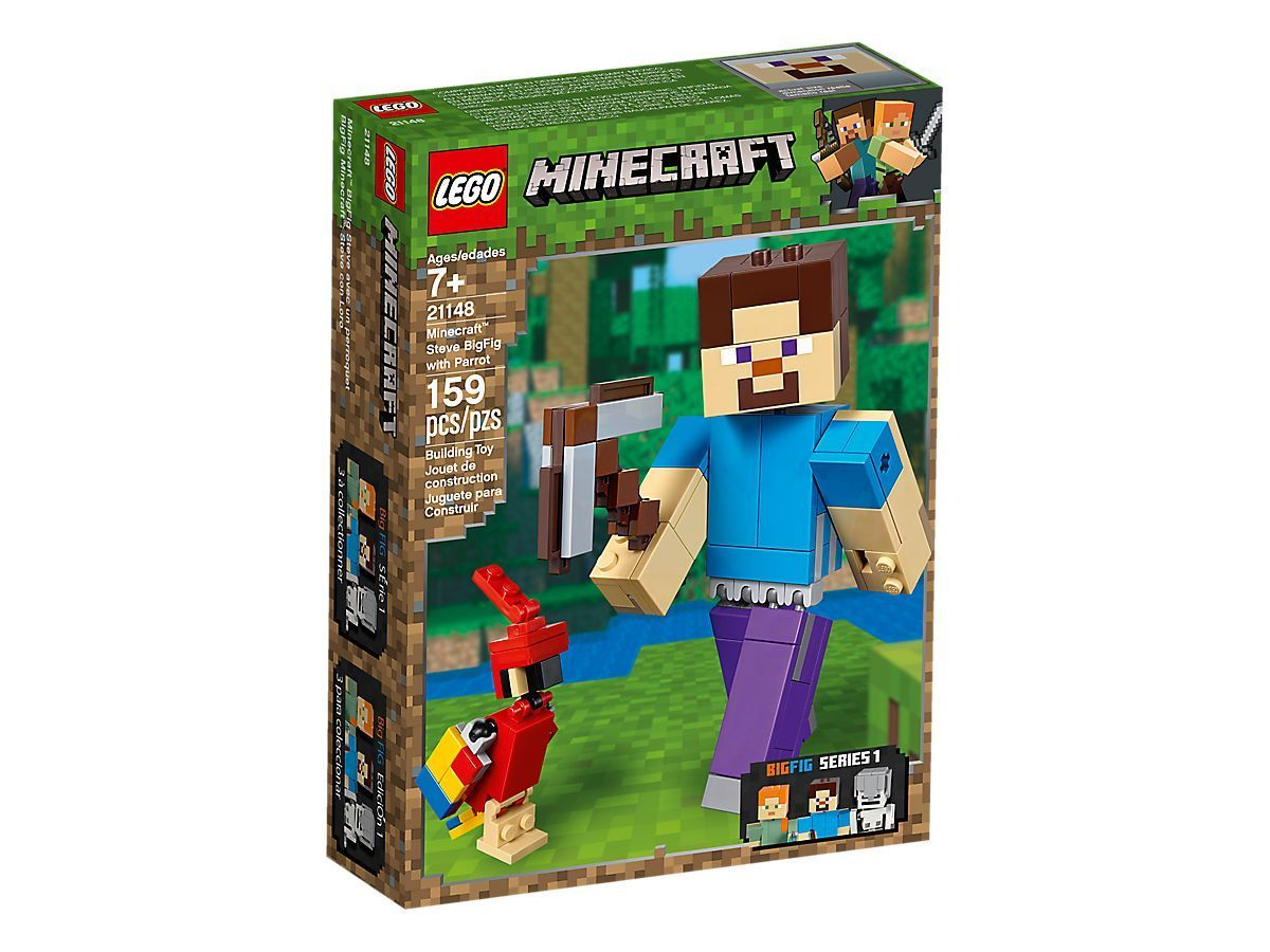 LEGO®Minecraft Minecraft™ Steve BigFig with Parrot-21148 Lego